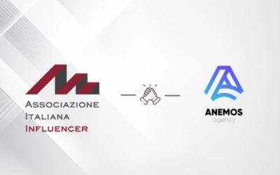 Assoinfluencer e ANEMOS Agency: siglata la prima partnership con una agenzia di content creator italiana